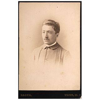 "LLOYD, Portrait of gentleman, Unsigned, Cabinet, Albumen on cardboard, 6.4 x 4.3"" (16.5 x 11 cm)"