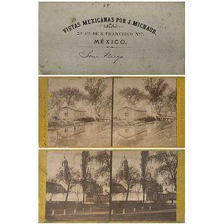 JULIO MICHAUD E HIJO, Vistas Mexicanas, Unsigned, Stereoscopic views, Different sizes, Pieces: 2