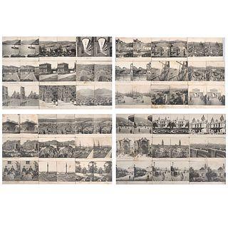 UNIDENTIFIED PHOTOGRAPHER, Vistas del mundo: Constantinopla, España, Francia e Italia, Unsigned, Stereoscopic views, Pieces: 56