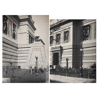 """UNIDENTIFIED PHOTOGRAPHER, Pabellón Mexicano, Exposición Universal de París 1900, Unsigned, Photomechanical printing, 5.9 x 8.6"""" (15x22 cm), Pieces:2"""
