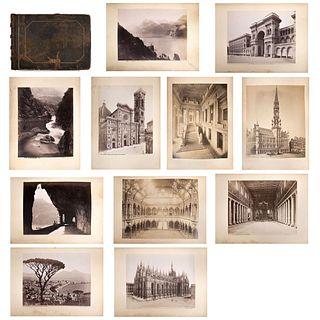 """SALVADOR MARTÍNEZ Y CÍA, Vistas de Europa, Unsigned, Albumins, 10.8 x 16.1 x 2.9"""" (27.5 x 41 x 7.5 cm), Pieces: 64, in album"""