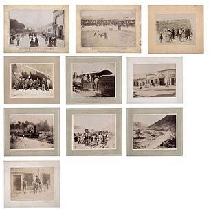 UNIDENTIFIED PHOTOGRAPHER, Vistas de Coahuila, Unsigned, Albumen on cardboard, Different sizes, Pieces: 10