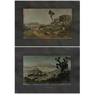 "JUAN KAISER (EDITOR), Sierra Madre Durango y Nevado Toluca, Signed, monogram and negative, Reproductions, 5.7 x 9.2"" (14.5 x 23.5 cm), Pieces: 3"