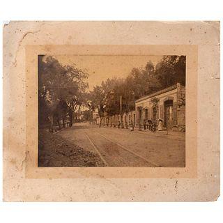 "UNIDENTIFIED PHOTOGRAPHER, Morelia, Michoacán, Unsigned, Albumen on cardboard, 7.8 x 10.4"" (20 x 26.5 cm)"