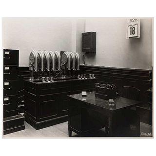 "GUILLERMO KAHLO, Banco de Londres 18 / VI / 928, Signed from negative, Silver / gelatin, 7.7 x 9.8"" (19.8 x 25 cm)"