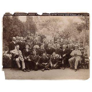"GUILLERMO KAHLO, Sociedad Coral Alemana, San Ángel, abril 1903, Signed from negative, Silver / gelatin, 7.7 x 9.8"" (19.8 x 25 cm)"