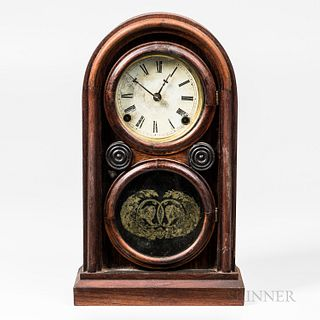 Ingraham Rosewood Veneered Shelf Clock