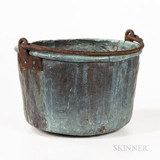 Large Copper Cooking Cauldron