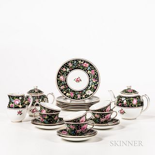 Crown Staffordshire Ceramic Tea Service