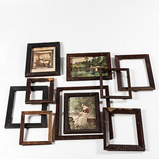 Group of Country Wooden Frames