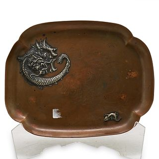 Gorham Copper & Silver Serving tray