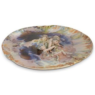 KPM Martin Fritzsche Figural Porcelain Plate