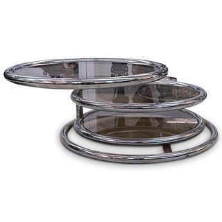 Milo Baughman Circular Swivel Coffee Table