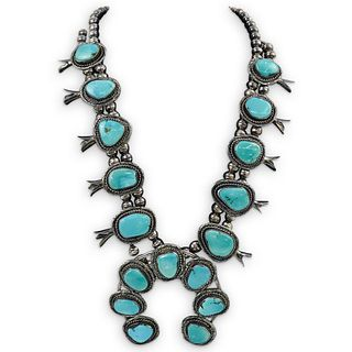 Vintage Sterling Silver Blossom Necklace