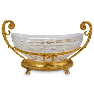 Possibly Baccarat Crystal and Ormolu Center Bowl