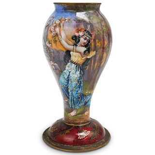 Antique Porcelain Enamel Vase
