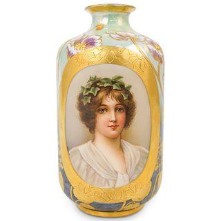 Antique Royal Vienna Porcelain Vase
