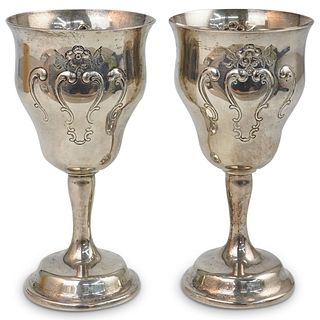Pair Of Gorham Sterling Silver Goblets
