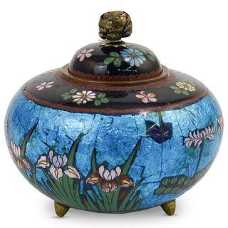 Chinese Cloisonne Enamel Lidded bowl