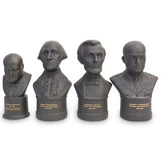 (4Pc) Wedgwood Basalt Presidential Busts