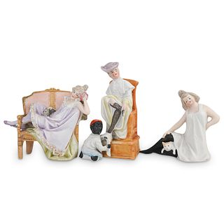 (3 Pc) German Porcelain Figurines Grouping