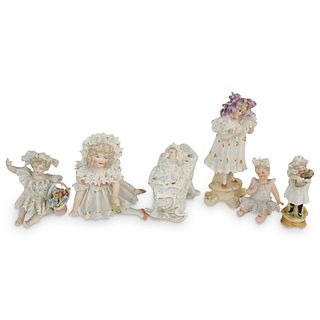 (6 Pc) German Porcelain Children Figurines Grouping