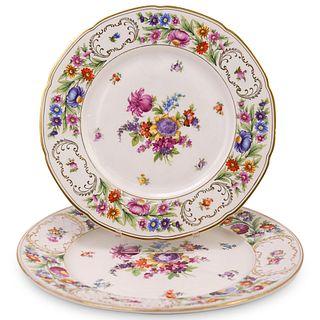 (2 Pc) Dresden Porcelain Plates