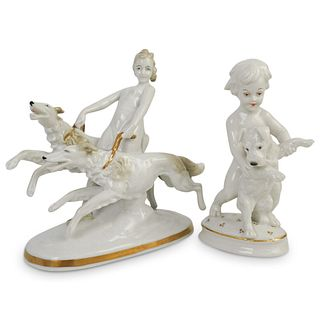 (2Pc) Rosenthal Porcelain Figurine Collection