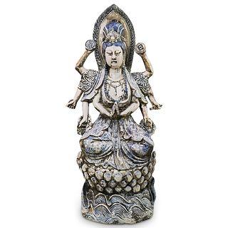 Antique Chinese Blue & White Buddha