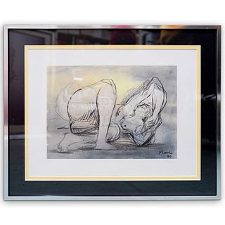 """Henry Moore (1898-1986)"""" Reclining Nude Figure"""" Lithograph"""