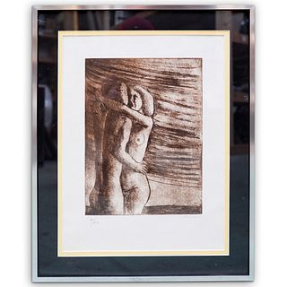 """Henry Moore (1898-1986) """"Nude Couple"""" Lithograph"""