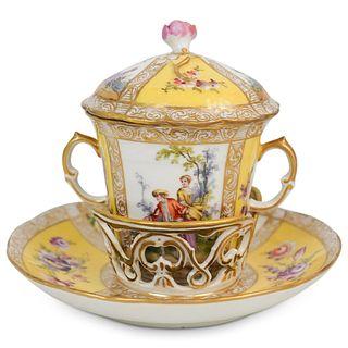 Dresden Porcelain Tea Cup