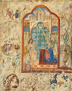 Annunciation to the Virgin From a Book Of Hours