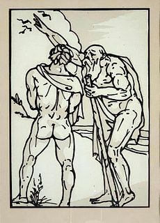Emile Bernard Woodcut 'Odyssee'