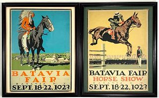 Roy Miller Silkscreens,Batavia Horse Show, Batavia Fair Illustration