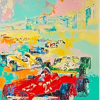 "LeRoy Nieman Serigraph, ""Grand Prix, Caesar's Palace"""