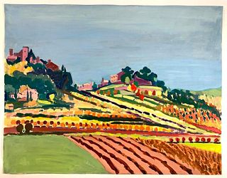Algesa O'Sickey Oil, 'Hillside, Provence'