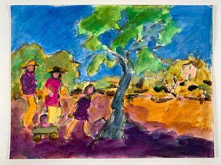 Algesa O'Sickey Watercolor, A Summer Outing