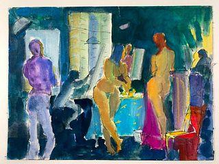 Algesa O'Sickey Watercolor, Figure Drawing Class