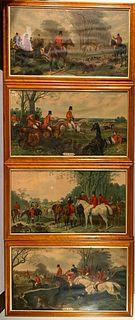 Four Fox Hunt Prints after J.F.Herring