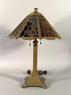 Wilkinson Overlay Slag Glass Table Lamp