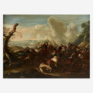 Follower of Jacques Courtois (French, 1621–1676), , Battle Scene