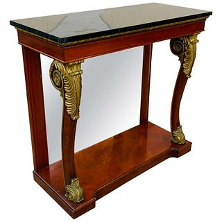 Empire-style mahogany & Gold Gilt Console by Kindel