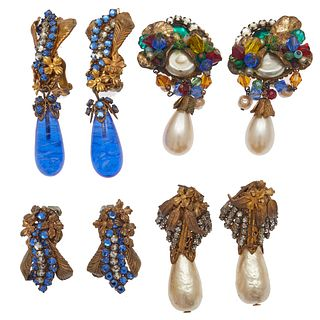 Group of Miriam Haskell Ear Clips