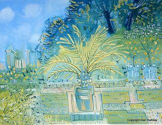 """Alan Halliday: """"Palms and Lemons at Château de Saint-Loup-sur-Thouet"""""""