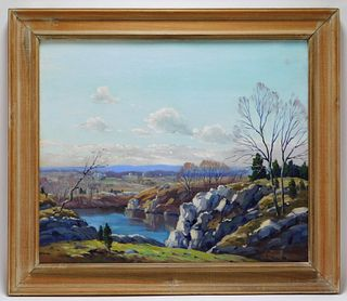 C. Gordon Harris Mountainous Landscape Painting