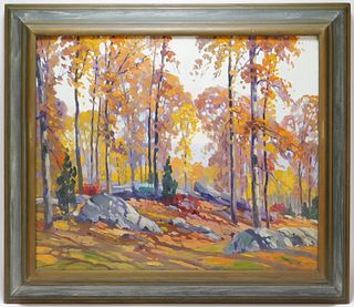 C. Gordon Harris Autumnal Landscape Painting
