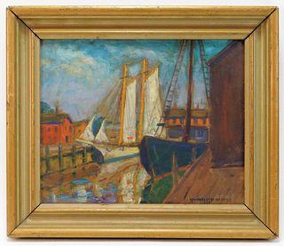 Whitney M. Hubbard Maritime Dock Painting