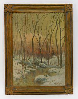 C. Myron Clark Impressionist Landscape Painting