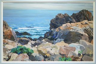 Ottmar von Fuehrer Impressionist Seascape Painting